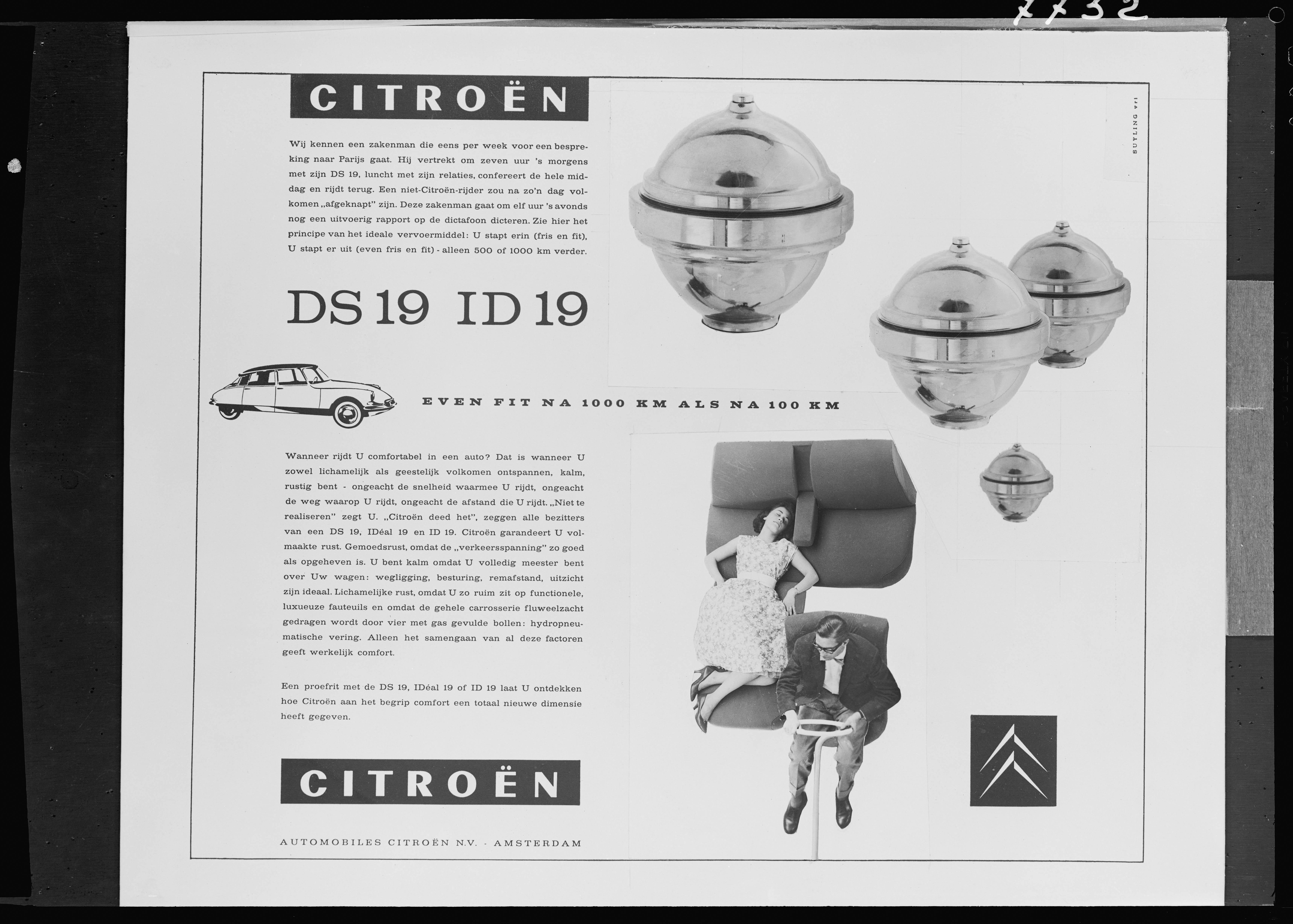 DS 19 Advertising in the Netherlands - 1959