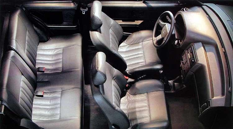 AX exclusive 3 doors 1992 inside