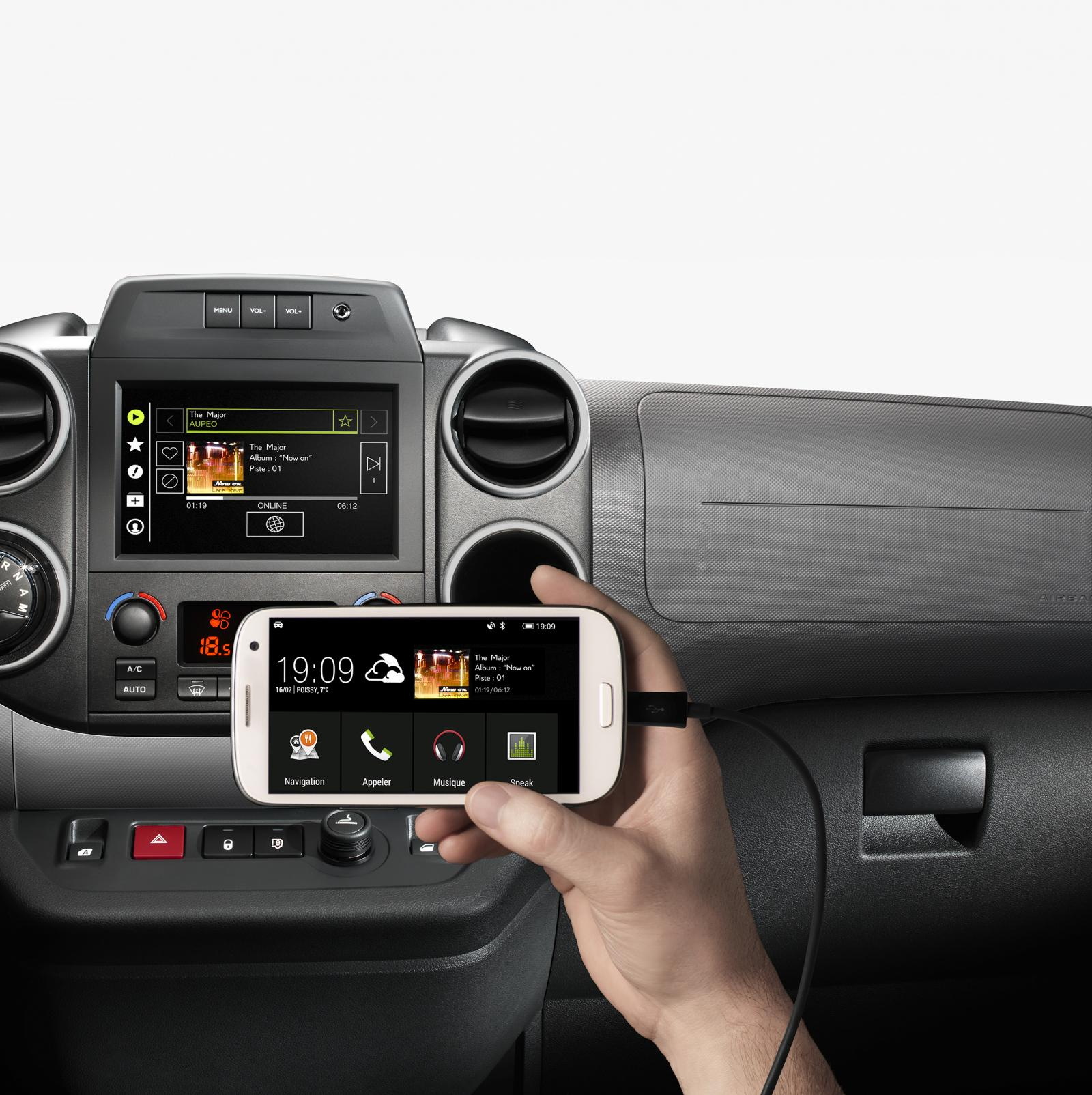 Berlingo Multispace 2015 Mirror Screen connexion smartphone